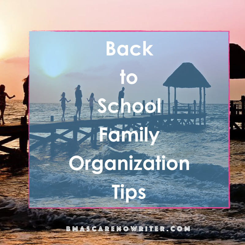 back to school family organization