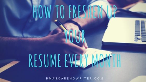 freshen resume every month