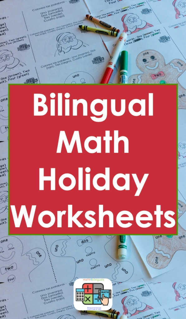 bilingual math holiday worksheets