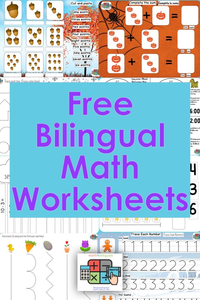 free bilingual math worksheets