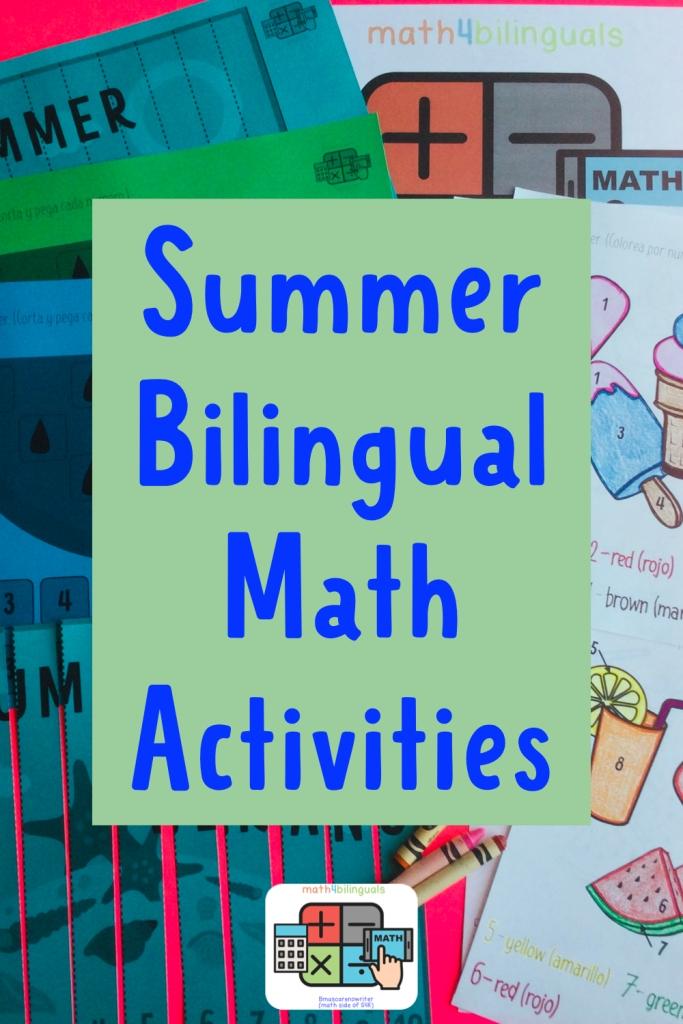 summer bilingual number activities