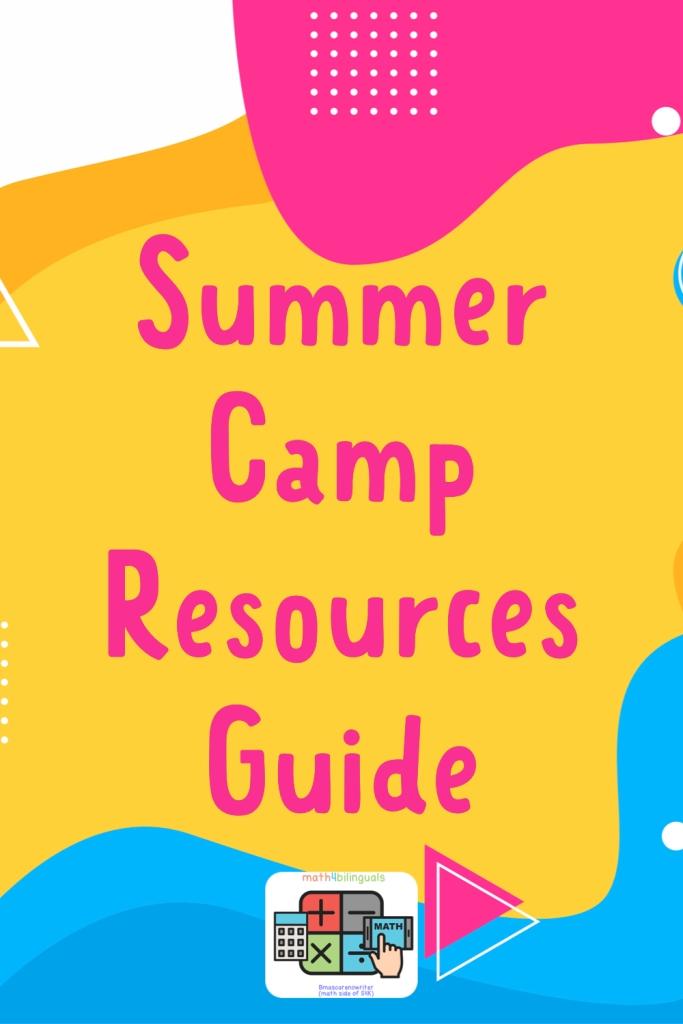 summer camp resources