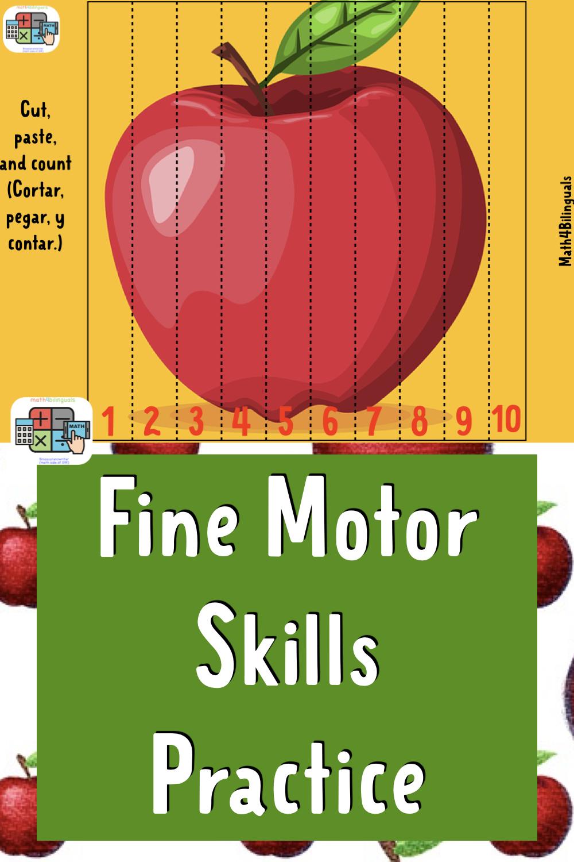 apple math bilingual activities